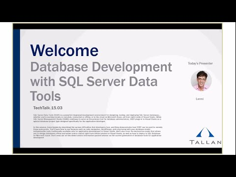 Database Development with SQL Server Data Tools