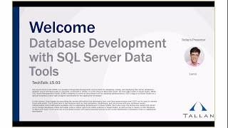 Database Development with SQL Server Data Tools