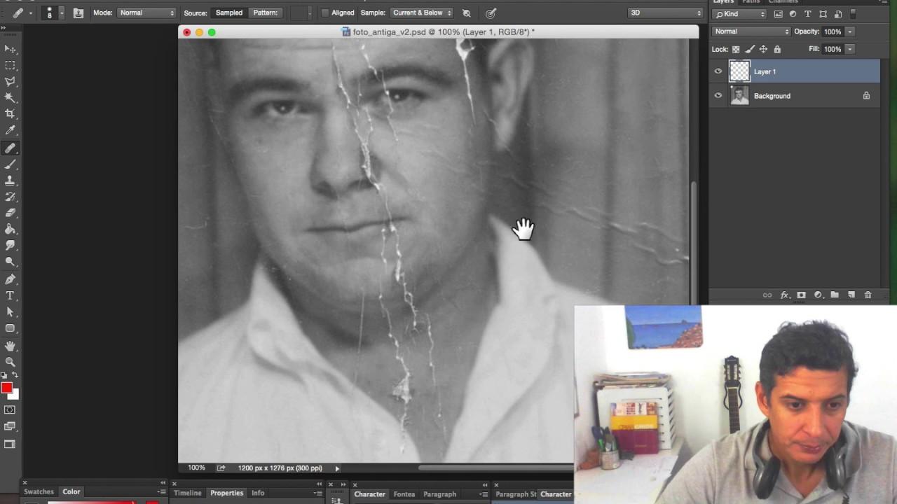 Restaurar Fotos Danificadas no Photoshop - YouTube