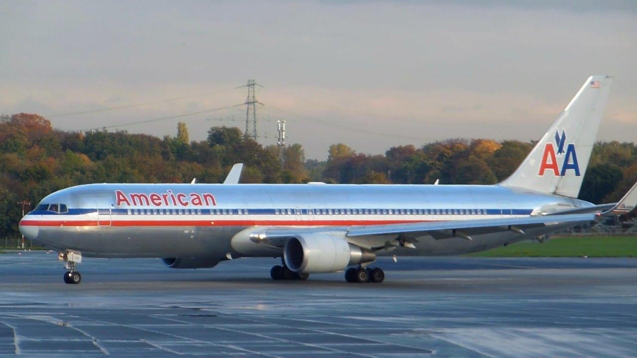 American Airlines Boeing 767 300 Takeoff D 252 Sseldorf