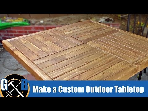 Make a Custom Outdoor Tabletop :: DIY