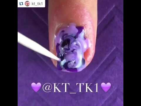 Marble Nails 💜 Tutorial