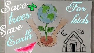 How To Draw SAVE TREES Drawing Tutorial Don 39 t Cut TREES Save EARTH Drawing Art Photography