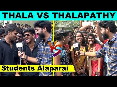Exclusive Video Thala Vs Thalapathy - Funny Moments With College Students | Thalapathy 63  Viswasam