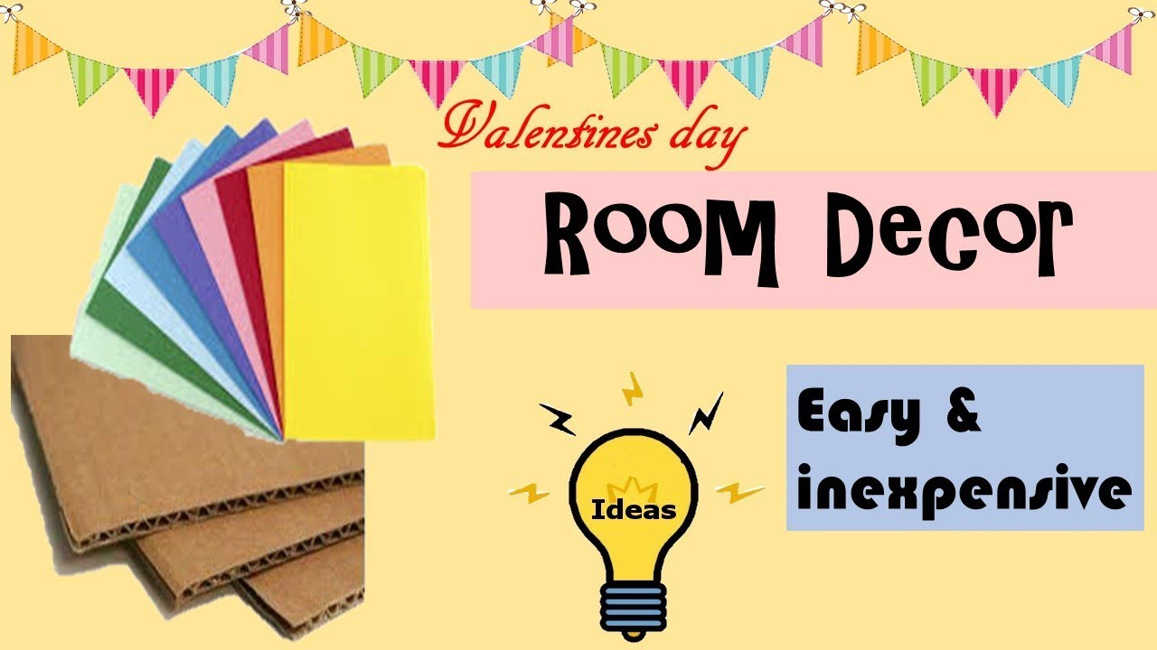 DIY | Room decor ideas with paper | valentines day | paper crafts ...