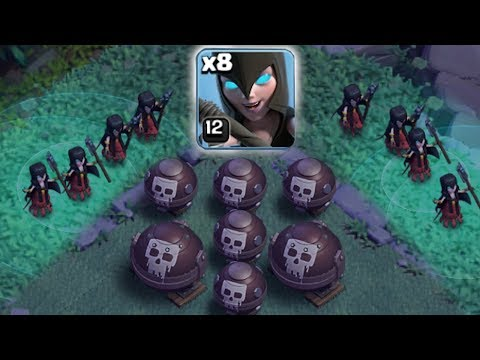 LOOK OUT!! ITS A TRAP!!  Clash of clans   TROLL WITCH TRAP!!