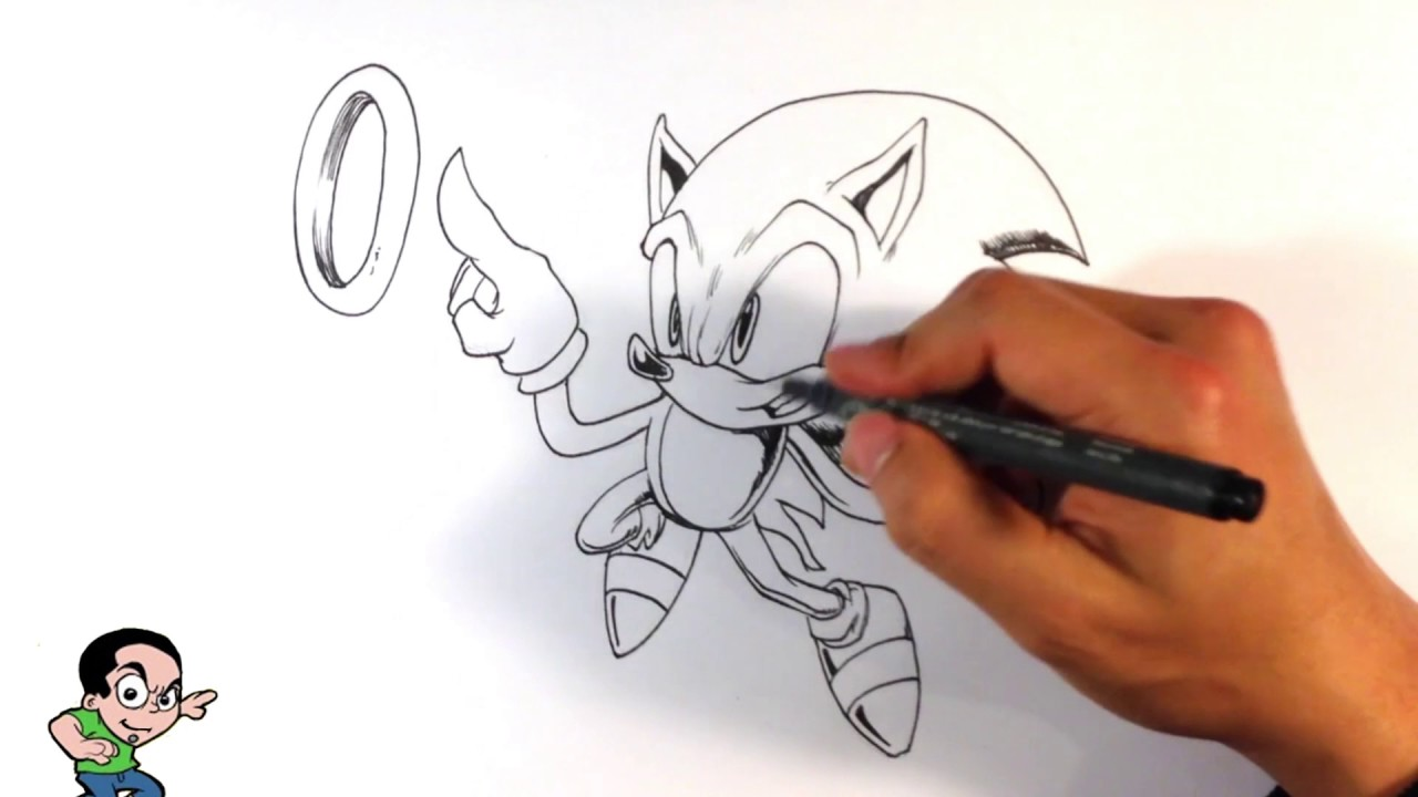 Drawing Sonic The Hedgehog Easy Drawings Youtube