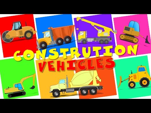 Construction  Vehicles | 60 mins. Plus Compilation For Kids, Children , Babies And Toddlers