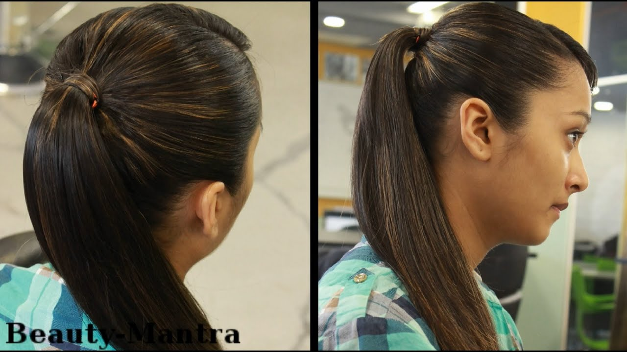 Hairstyles for Long Hair - Simple Pony Tail - YouTube