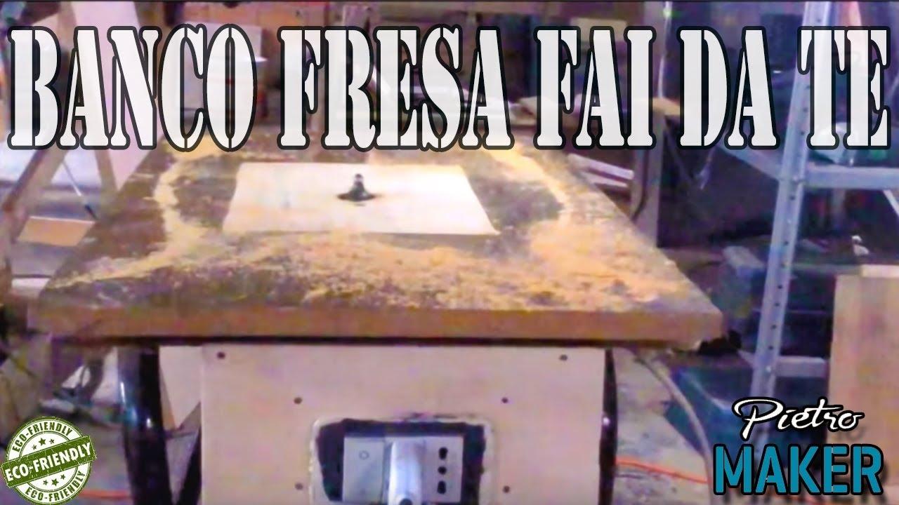 Banco fresa fai da te falegnameria legno youtube for Banco fresa fai da te