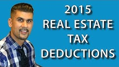 2015 REAL ESTATE TAX DEDUCTIONS - PURCHASE OR REFINANCE