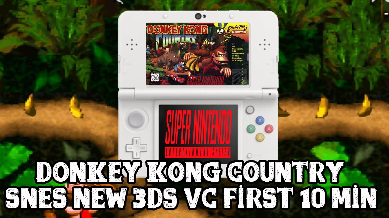 [Donkey Kong Country 3DS VC] First 10 minutes