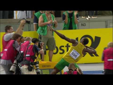 Usain Bolt finale 100 m 2009 record del mondo