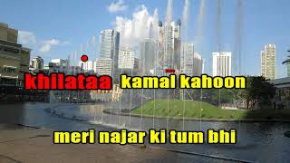 SAMUNDAR MEIN NAHA KE KARAOKE WITH LYRICS