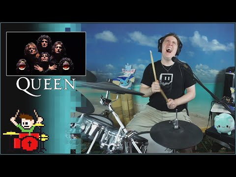 Perfectly Timed Bohemian Rhapsody On Drums!
