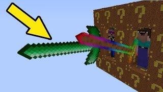 МОД на оружие богов из КУКИ ЛАКИ БЛОКА (ЧАСТЬ 1) - Обзоры Модов Герон и Троллинг Нубов в Майнкрафт