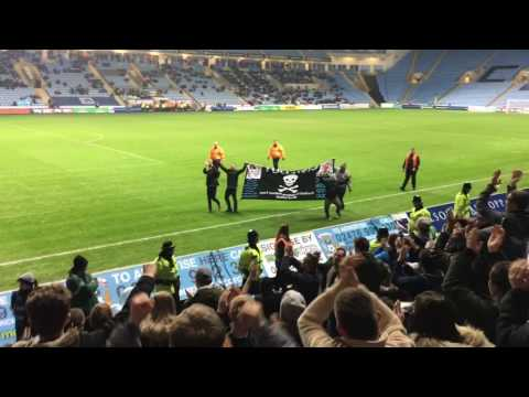 Coventry City FC vs Sheffield United FC 15/12/16 | Pitch Invasion-Protest-Fights!!