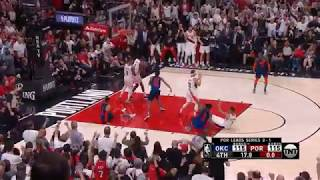 Damian Lillard's series-winning three pointer vs OKC! (Game 5)
