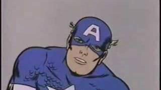 Daniel Johnston Monster Inside Of Me - Captain America - Avengers - Steve Rogers - By Eric Fensler