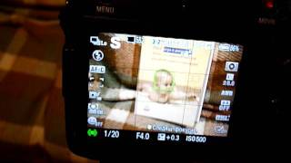 Face Recognition in Sony A77