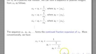 continued fractions 1