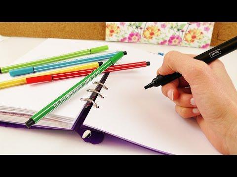 Kathi malt 3 NEUE Bilder | süße Eulen, Pfeile & Papierflieger | NEUE Filofax DIY Ideen | Zeichnungen