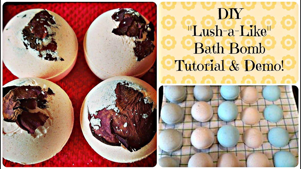 Diy lush a like bath bomb tutorial demo youtube for Diy bathroom demolition