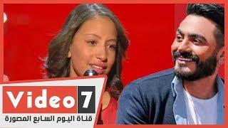 تامر حسني يحقق حلم الطفلة هايدى محمد ويعدها بالغناء معه
