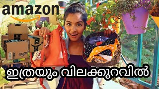 Amazon haul|Quality dresses under ₹500|10 headbands for ₹150|Footwear|Worth or not??Asvi Malayalam