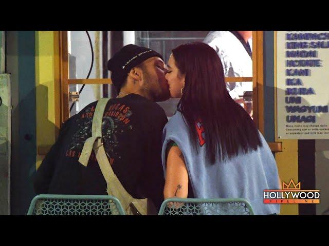 Dua Lipa and Anwar Hadid Kiss During Sushi Dinner in New York City