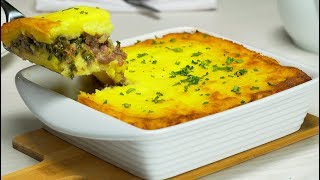 Potato Casserole with Minced Meat. Recipe from Always Tasty!
