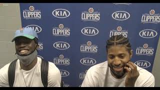 Reggie Jackson & Paul George fun Postgame; Clippers beat the Spurs