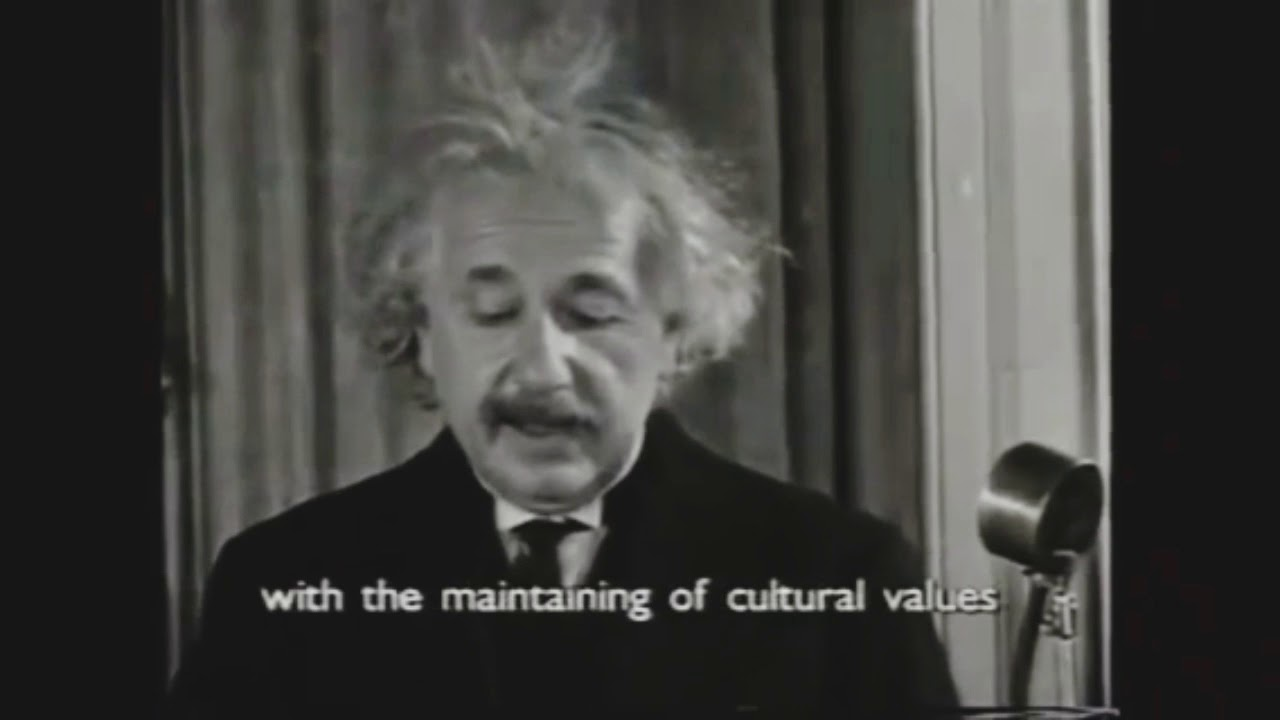 Real Speech Of Albert Einstein|Voice Of Albert Einstein|Einstein Was Speaking