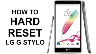 how to hard reset lg g stylo factory reset