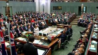 President Obama Speaks to the Australian Parliament