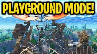 NEW WEAPONS & PLAYGROUND MODE!! (Dakotaz, NoahJ456, HighDistortion New Fortnite Playground Gameplay)