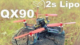 ✔ FPV Drone QX90 2s Version! Квадрокоптер теперь на двух банках! Gearbest