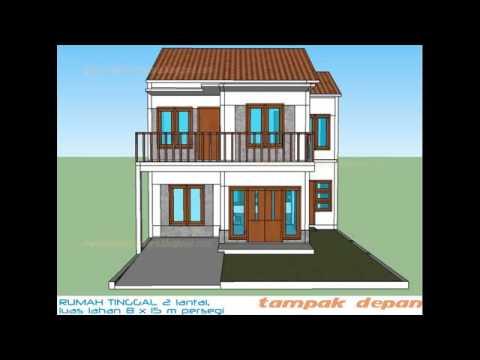 Contoh Denah Rumah Minimalis 2 Lantai Type 36 Youtube