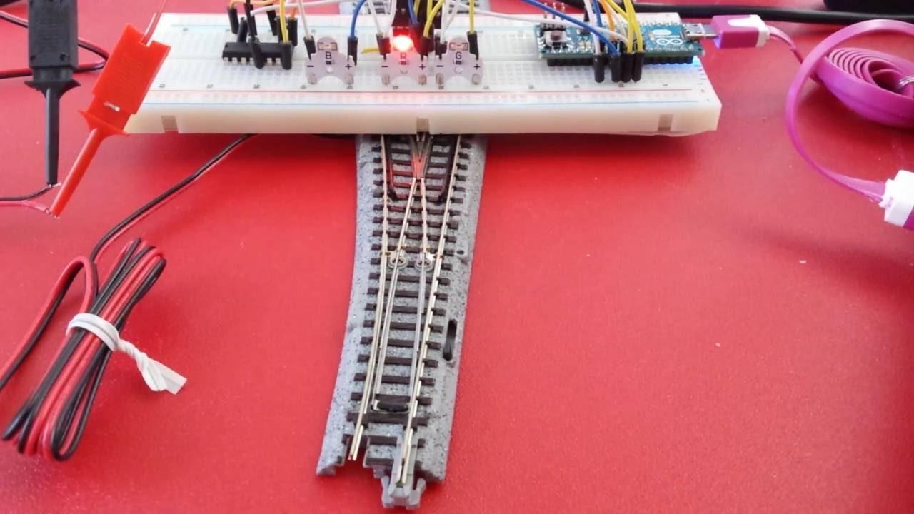 Arduino Micro Driving Kato Unitrack Turnout