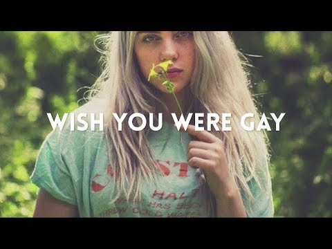 billie eilish - wish you were gay (lyric video) Mp3