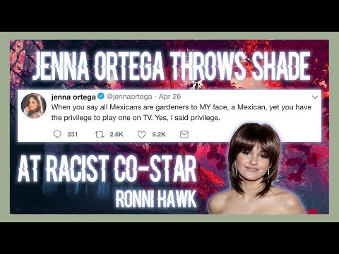 JENNA ORTEGA THROWS SHADE AT RONNI HAWK FOR RACISM