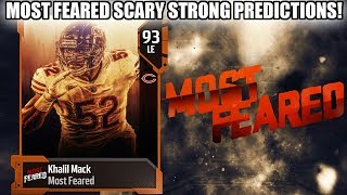 MOST FEARED SCARY STRONG PLAYERS! SCARY STRONG PREDICTIONS! | MADDEN 19 ULTIMATE TEAM