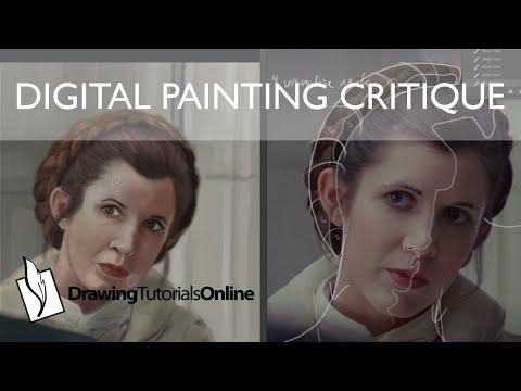 Digital Painting Coaching Critique - Princess Leia