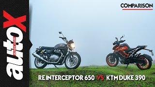 Royal Enfield Interceptor 650 vs KTM 390 Duke | autoX