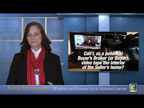 Can Buyer's Broker take video of the inside of Seller's home?