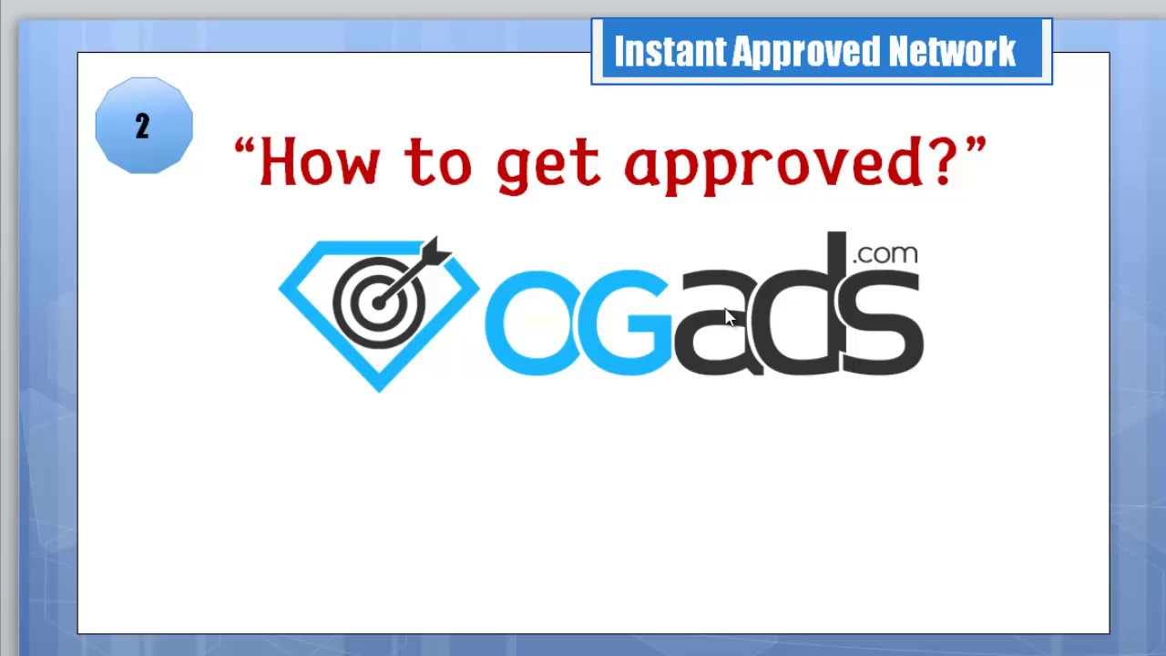 Lesson 2 How to Get Approved with OGAds - Khmer Video Tutorials