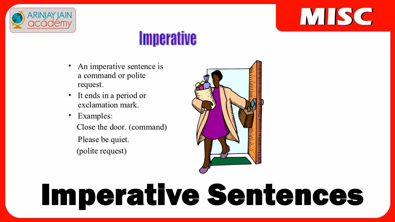 Imperative Sentences English Youtube