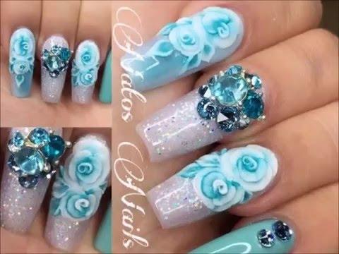 Nails Art Pastel 2016 Modele Unghii Roz Si Albastru Pastel 2016