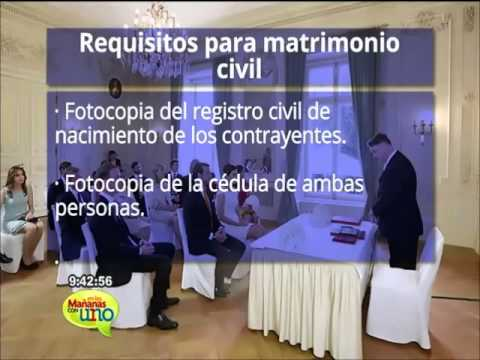 Requisitos para el matrimonio civil youtube - Requisitos para casarse ...