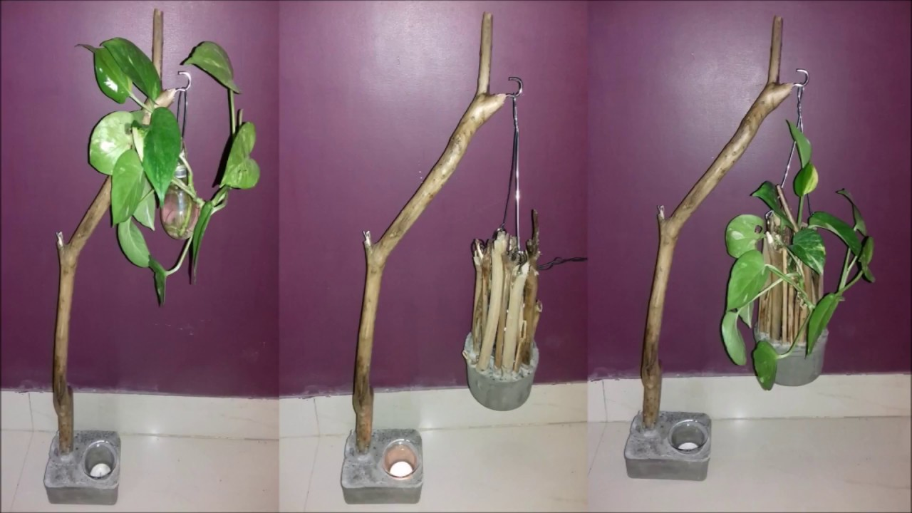 diy-art attack | money plant desk decore hanging pot. - youtube